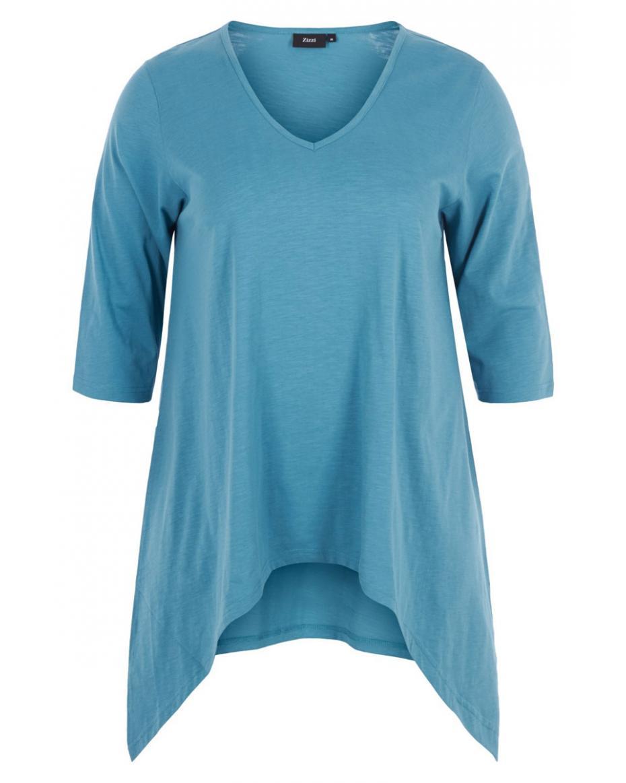 48a5c4ef6c8f Μακρυμάνικη μπλούζα σε σιέλ χρώμα με μύτες Μακρυμάνικη μπλούζα σε σιέλ χρώμα  με μύτες · Μεγάλα μεγέθη ...