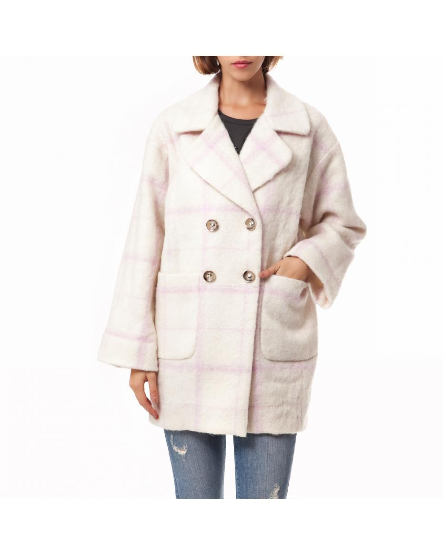7121502cf8 JUICY COUTURE - Γυναικείο παλτό Juicy Couture λευκό-ροζ ...