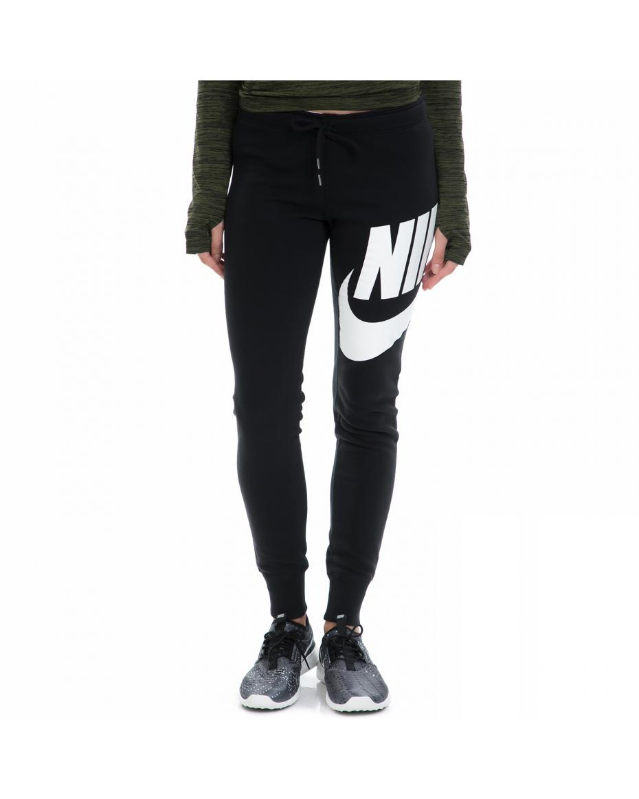 NIKE - Γυναικεία φόρμα NIKE RALLY PANT-TIGHT EXPLODED μαύρη-λευκή ... cd192f3bf65