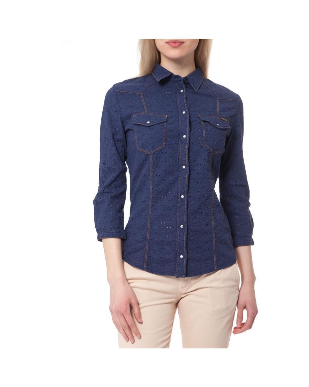 857fe3149821 GUESS - Γυναικείο πουκάμισο Guess μπλε ...