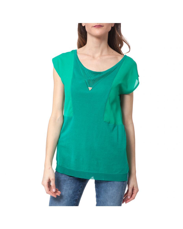 e6b4cd3aecb4 GUESS - Γυναικεία κοντομάνικη μπλούζα Guess πράσινη ...