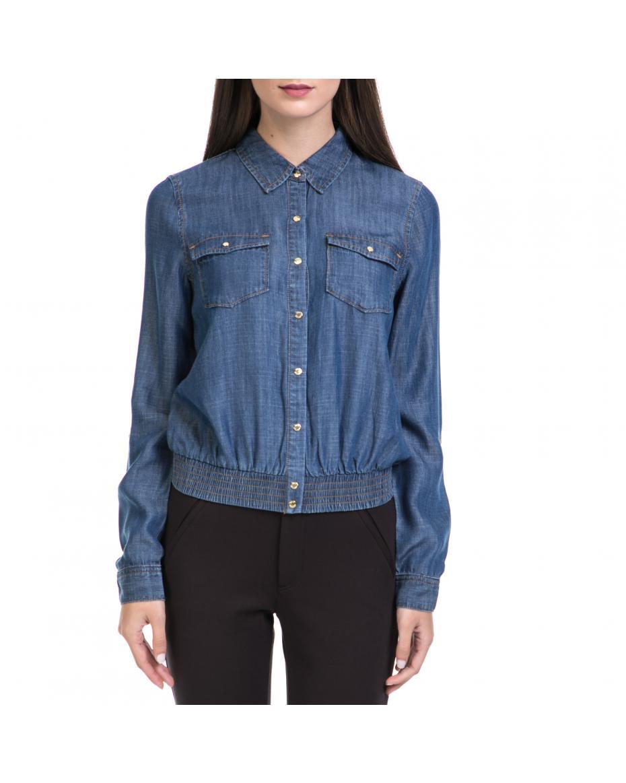 JUICY COUTURE - Γυναικείο πουκάμισο JUICY COUTURE μπλε ... 481401e3529