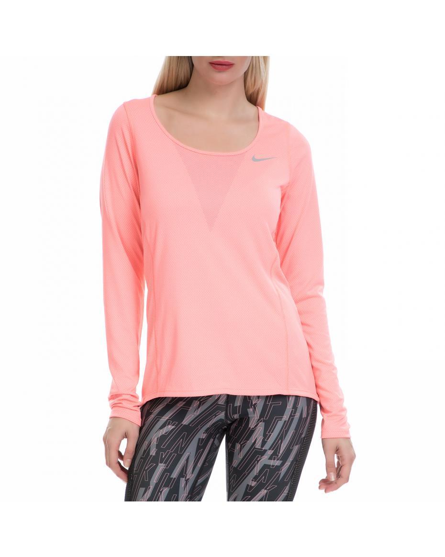 17ed06f06d2d NIKE - Γυναικεία αθλητική μπλούζα NΙKΕ ZNL CL RELAY TOP LS ροζ ...