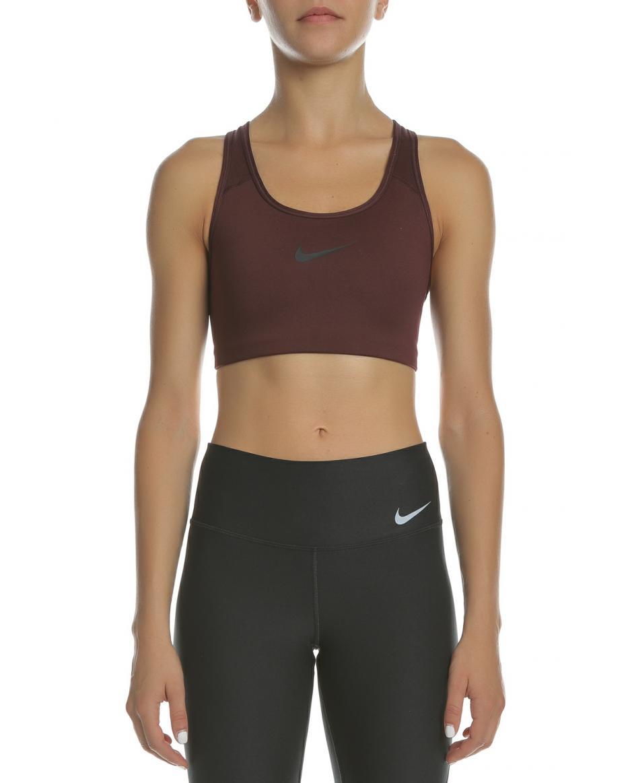 fe67e9bdfae NIKE - Γυναικείο αθλητικό μπουστάκι NIKE SWOOSH μπορντό ...