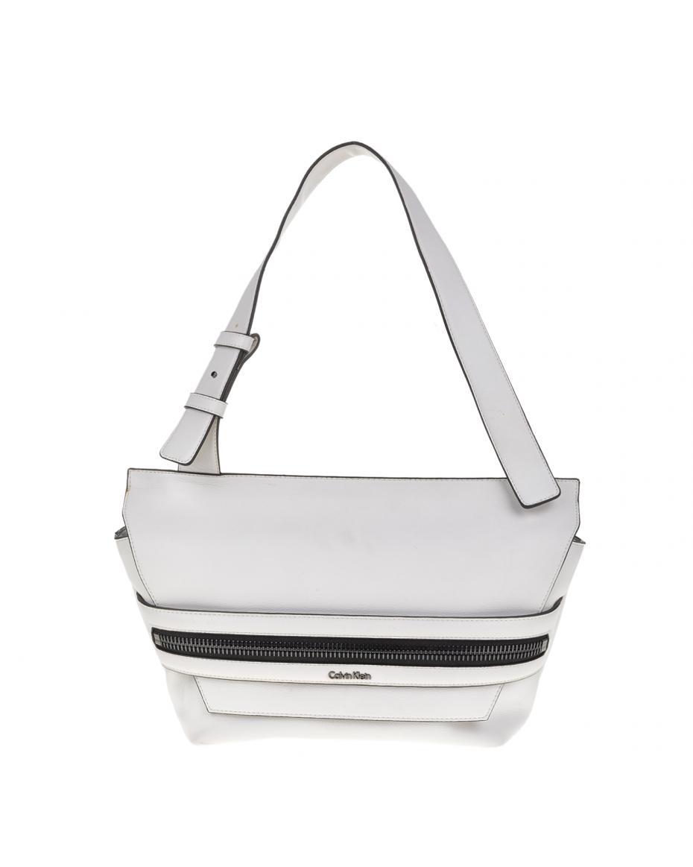 c1a6149943 CALVIN KLEIN JEANS - Γυναικεία τσάντα ώμου LUC7 MEDIUM Calvin Klein Jeans  λευκή ...