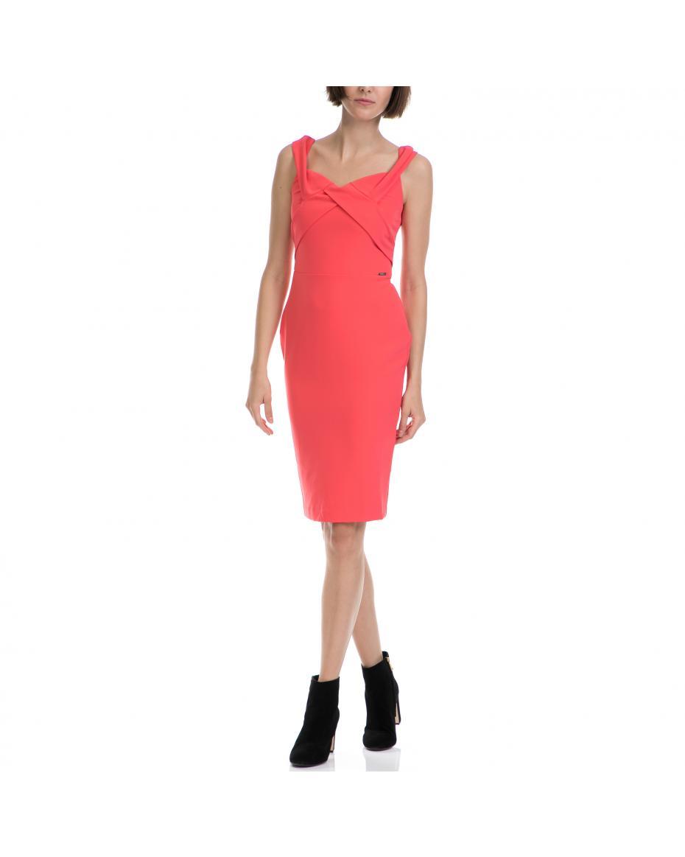 GUESS - Γυναικείο φόρεμα GUESS πορτοκαλί GUESS - Γυναικείο φόρεμα GUESS  πορτοκαλί · Φορέματα 3e8fead127c