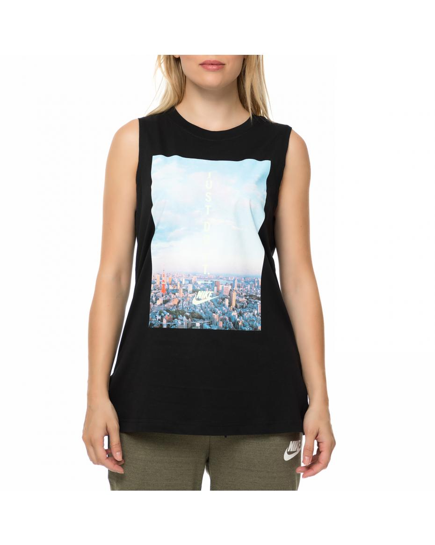 2512f9fe57b6 NIKE - Γυναικεία αμάνικη μπλούζα NIKE μαύρη με στάμπα ...
