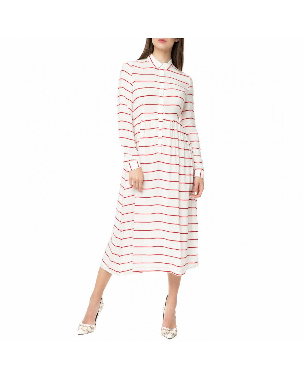 685b90d6cc54 AMERICAN VINTAGE - Γυναικείο midi φόρεμα POME166BE17 AMERICAN VINTAGE ριγέ  ...