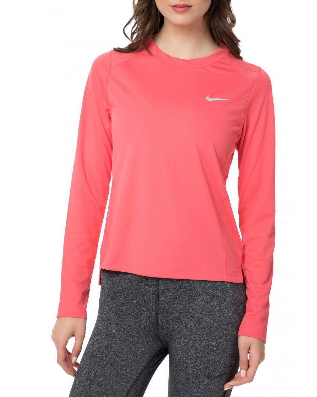 f96b61c2b1d5 NIKE - Γυναικεία μακρυμάνικη μπλούζα NIKE MILER TOP LS ροζ ...