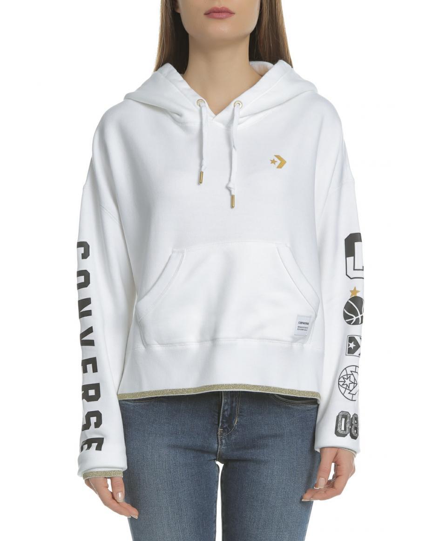 2c74db2ce20b CONVERSE - Γυναικεία φούτερ μπλούζα Converse λευκή ...
