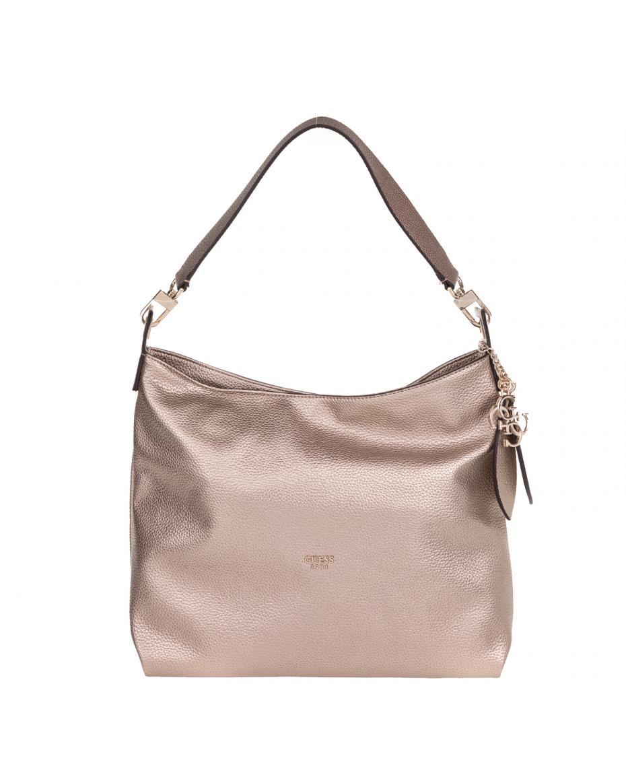 e5e32793af GUESS - Γυναικεία τσάντα ώμου GUESS LOU LOU HOBO χρυσή ...