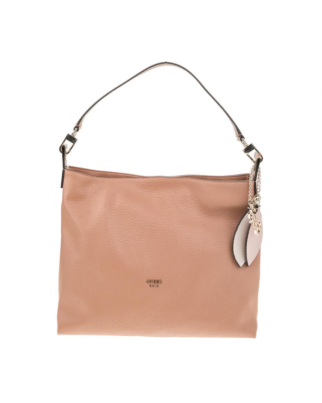 bcafa06353 GUESS - Γυναικεία τσάντα ώμου GUESS LOU LOU HOBO καφέ ...