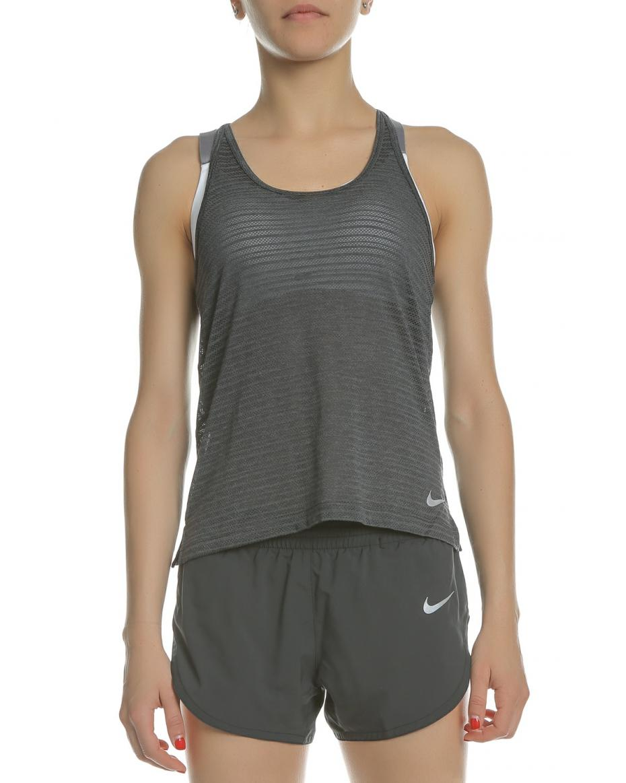 71ac7dfa6e6e NIKE - Γυναικεία αμάνικη μπλούζα NIKE Miler Breathe ανθρακί ...