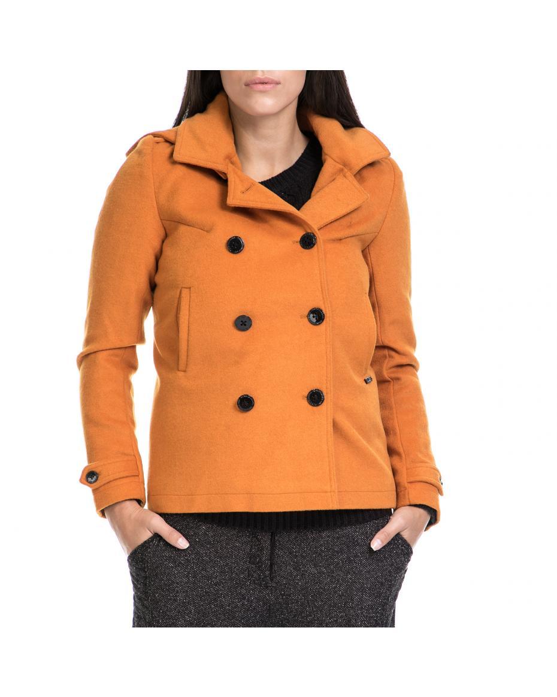 FUNKY BUDDHA - Γυναικείο παλτό FUNKY BUDDHA κίτρινο ... 10c4ac30b4e