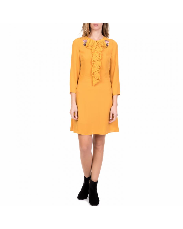 2ce768562454 SILVIAN HEACH - Γυναικείο μίνι φόρεμα BENIFLA SILVIAN HEACH κίτρινο ...