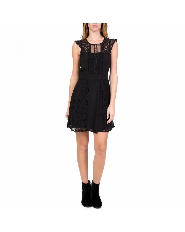 53f08551f53f NAF NAF - Γυναικείο μίνι φόρεμα με δαντέλα EBERRY NAF NAF μαύρο ...