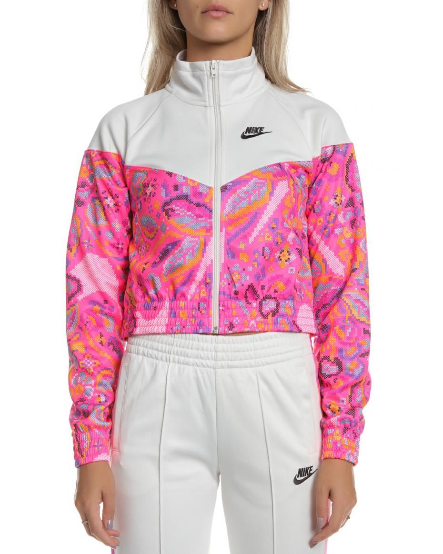 NIKE - Γυναικείο αθλητικό NIKE jacket SW FTR FEM λευκό-ροζ