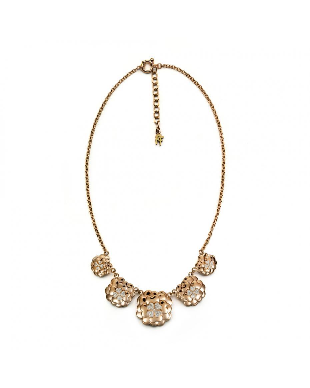 380c9083a6 FOLLI FOLLIE - Γυναικείο κοντό κολιέ FOLLI FOLLIE ροζ-χρυσό ...