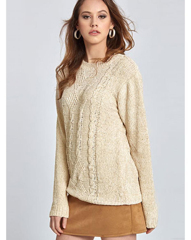 ddefe13ba858 Chenille πουλόβερ με σχέδιο WL1567.9882+2 ...