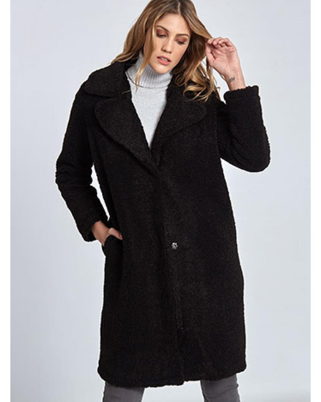 b31684dc9058 Μακρύ παλτό από συνθετικό μαλλί WL269.7003+1 ...