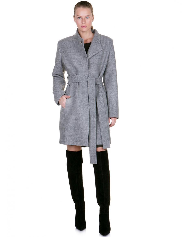 0f73eb54e632 TOI MOI Γυναικεία Ρούχα (385). ΦΙΛΤΡΑ. Παλτό με ζώνη - ΓΚΡΙ ...