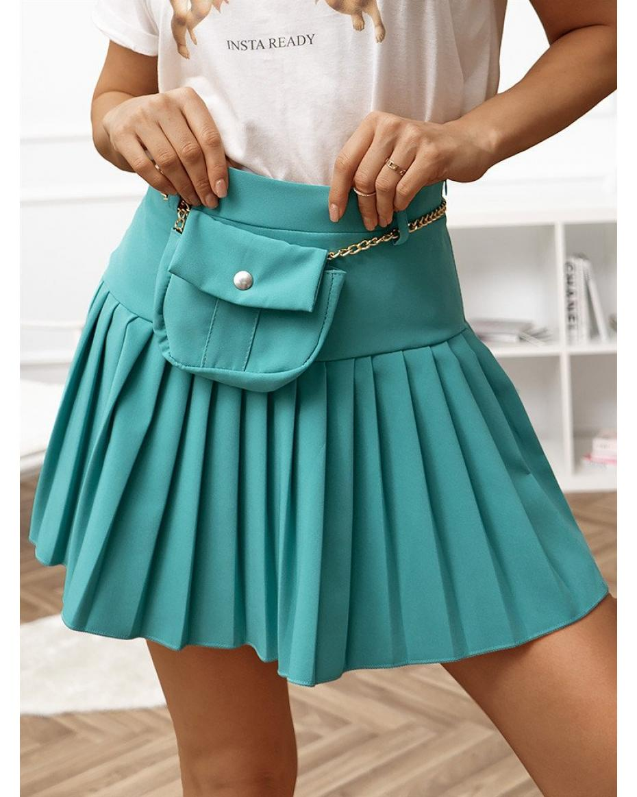 CANAVERAL PETROL MINI SKIRT WITH BELT BAG