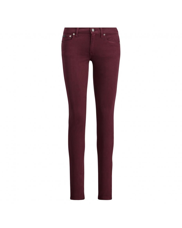 1985bc49e82d Polo Ralph Lauren γυναικείο παντελόνι μπορντό Tompkins Sateen Skinny Jean -  211682704001 - Μπορντό ...