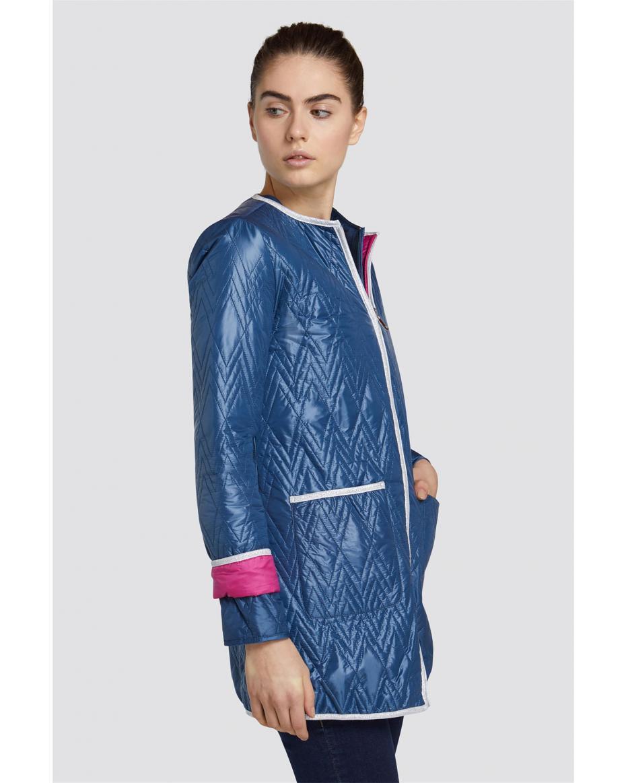 7b5e0d48dd Trussardi Jeans γυναικείo καπιτονέ ελαφρύ μπουφάν - 56S00308-1Y090504 -  Μπλε Σκούρο ...