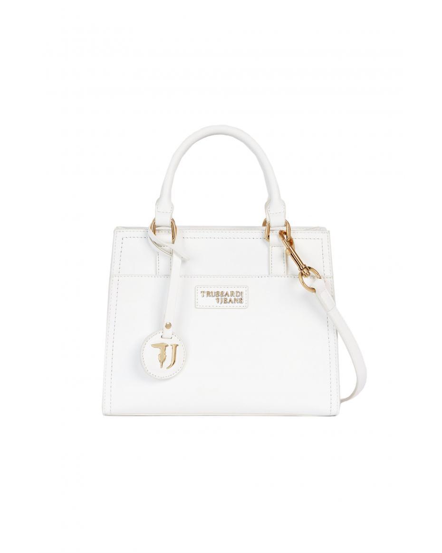 73fd941bd523 Trussardi Jeans γυναικεία τσάντα χειρός T Easy Small - 75B00703-9Y099999 -  Λευκό ...