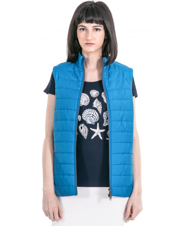 0a6b0198a814 Γυναικείο μπουφάν αμάνικο Barbour - LQU0791 - Μπλε ...