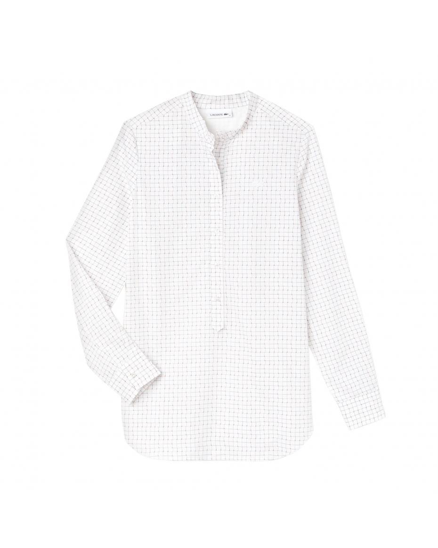 d0f6d9f00fdc Lacoste γυναικείο πουκάμισο με καρό print - CF8930 - Λευκό ...