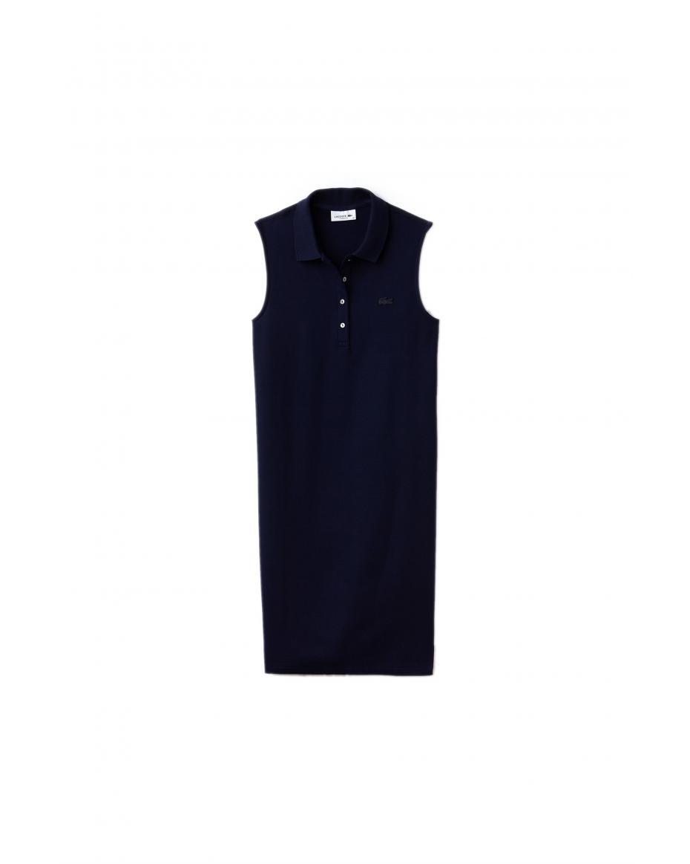 9c70d30bb67c Γυναικείο polo πικέ φόρεμα Lacoste - EF3059 - Μπλε Σκούρο