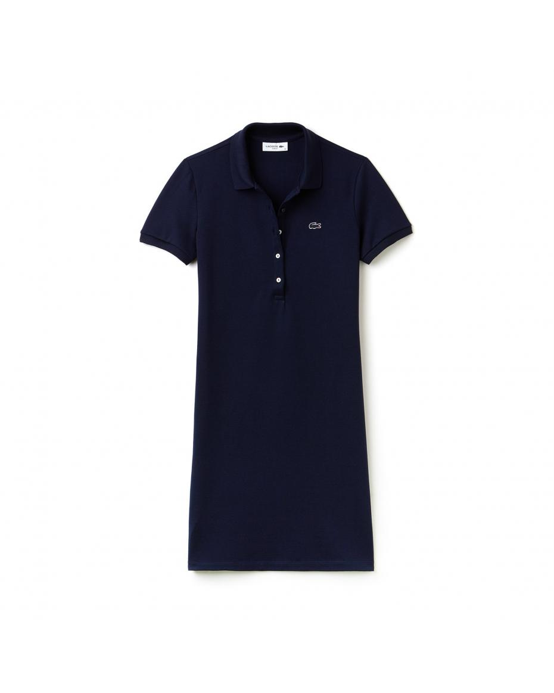 37ef1fd65702 Γυναικείο φόρεμα polo mini pique Lacoste - EF8470 - Μπλε Σκούρο