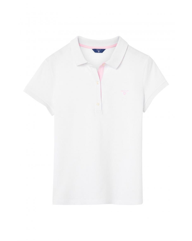 4a8a9a200a0e Gant γυναικεία polo μπλούζα μονόχρωμη - 401250 - Λευκό ...