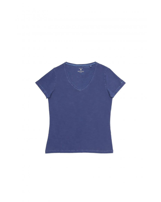 c5d7f7078902 Γυναικείο T-shirt μονόχρωμο GANT - 4203451 - Μπλε ...