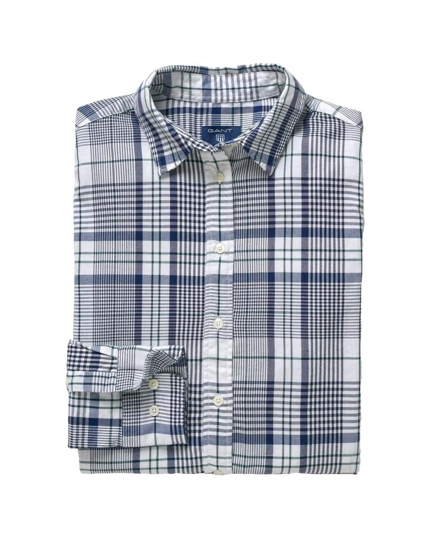 e34faabaed Gant γυναικείο πουκάμισο Tech Prep Flannel - 4311034 - Λευκό ...