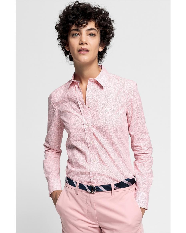 49ad24a8a266 Gant γυναικείο πουκάμισο με μικροσχέδιο - 4320079 - Ροζ ...