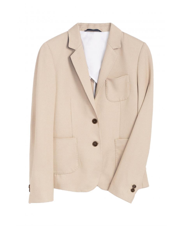 8a6e3da19ac0 Gant γυναικείο πικέ σακάκι με ραφές - 4770039 - Μπεζ ...
