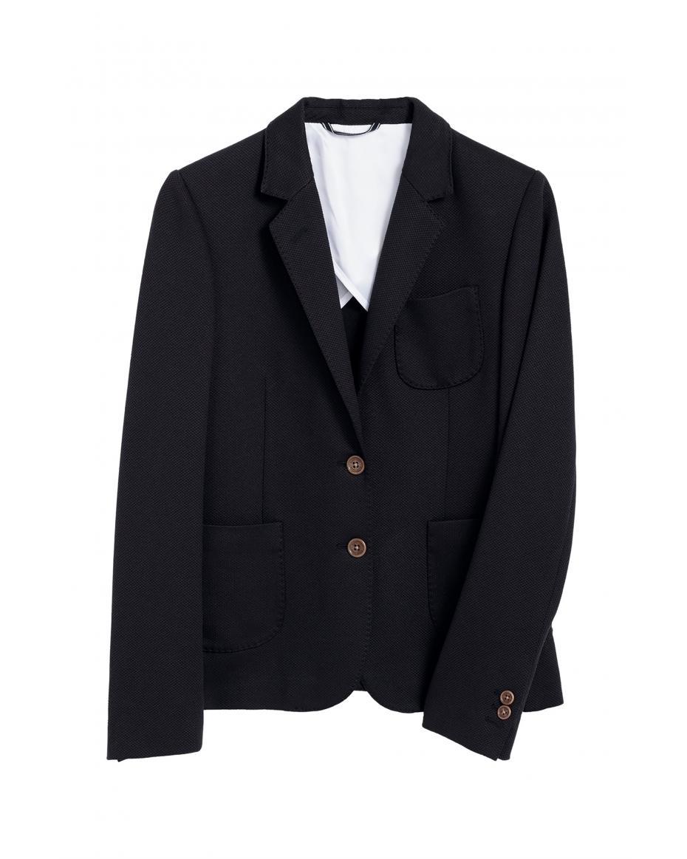 90ec86906bc9 Gant γυναικείο πικέ σακάκι με ραφές - 4770039 - Μπλε Σκούρο ...