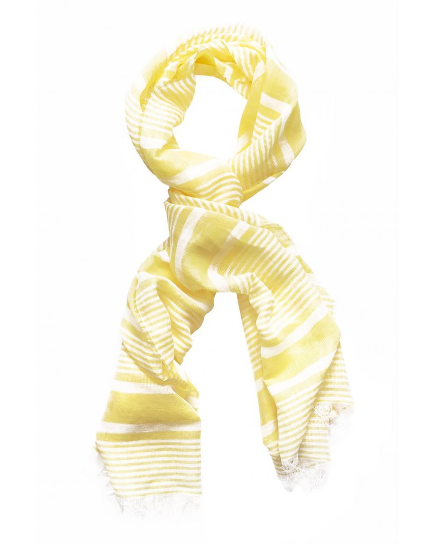 85ef0b641a Gant γυναικείο λινό κασκόλ ριγέ - 4920048 - Κίτρινο ...