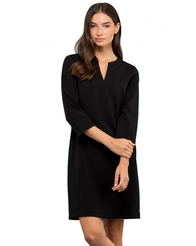 ca7752f2a1c8 Nautica γυναικείο mini φόρεμα με V και μανίκι 3 4 - 83D212 - Μαύρο ...