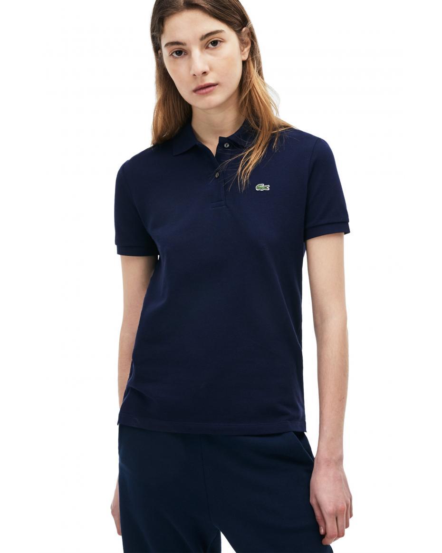 07bcb64d43eb Lacoste γυναικεία μπλούζα polo μονόχρωμη The Lacoste Polo - PF7839 - Μπλε  Σκούρο