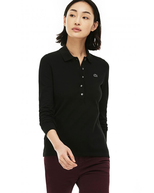 51be14c05a73 Γυναικεία μπλούζα Lacoste - PF7841 - Μαύρο ...