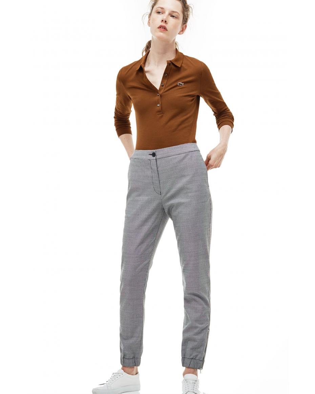 44669d9cb274 Γυναικεία μπλούζα Lacoste - PF7841 - Καφέ ...