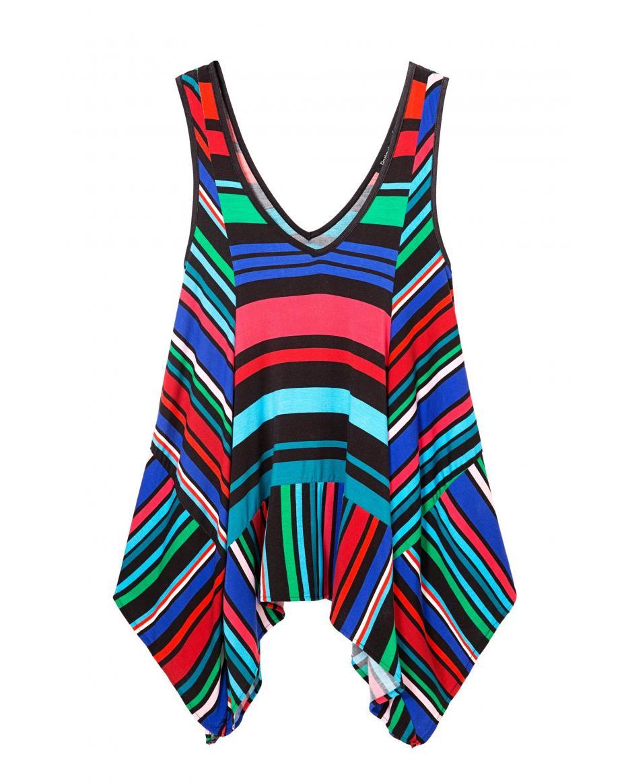 911de4121d1a Desigual γυναικεία μπλούζα Charmian - 18SWTKEU - Πολύχρωμο ...