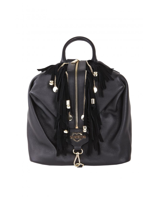 4285801d98 Love Moschino γυναικείο backpack με κρόσσια - JC4136PP17LT0 - Μαύρο ...