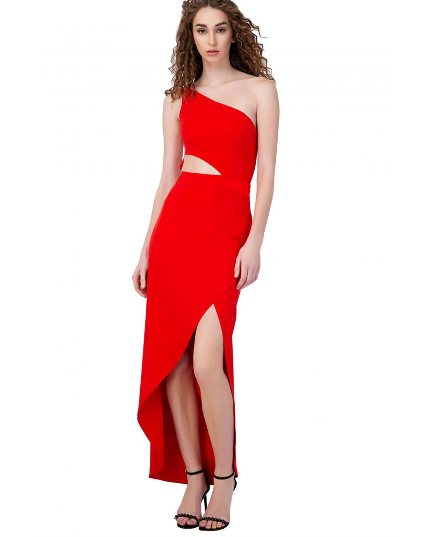 b9138e4a83f1 Billy Sabbado γυναικείο maxi φόρεμα με έναν ώμο - 0290915154 - Κόκκινο ...