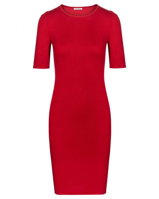 39fb7944f6e Orsay γυναικείο κοντομάνικο μίνι φόρεμα πλεκτό - 530138-383000 - Κόκκινο ...