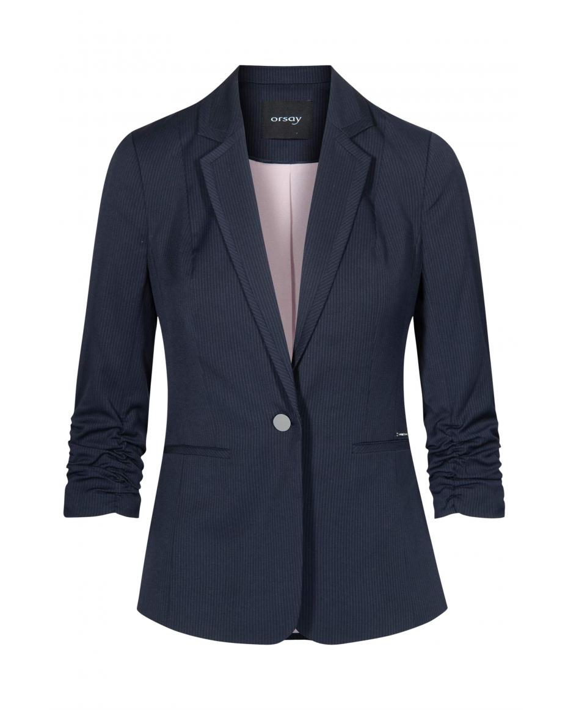 9aff280d4720 Orsay γυναικείο σακάκι ριγέ μονόκουμπο με μανίκια 3 4 - 480169-519000 -  Μπλε ...