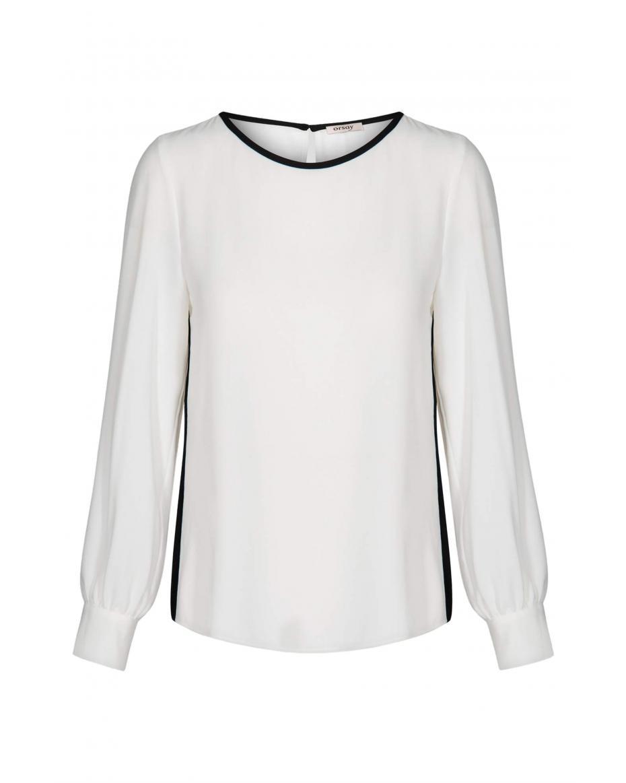 905aed23618 Orsay γυναικεία μπλούζα μακρυμάνικη με λώριδες - 663321-001000 - Λευκό ...